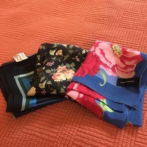 Set of three silk scarves